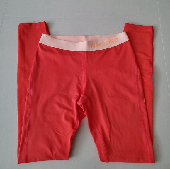Nike Pants - Nike Pro Dri-Fit Orange Tights